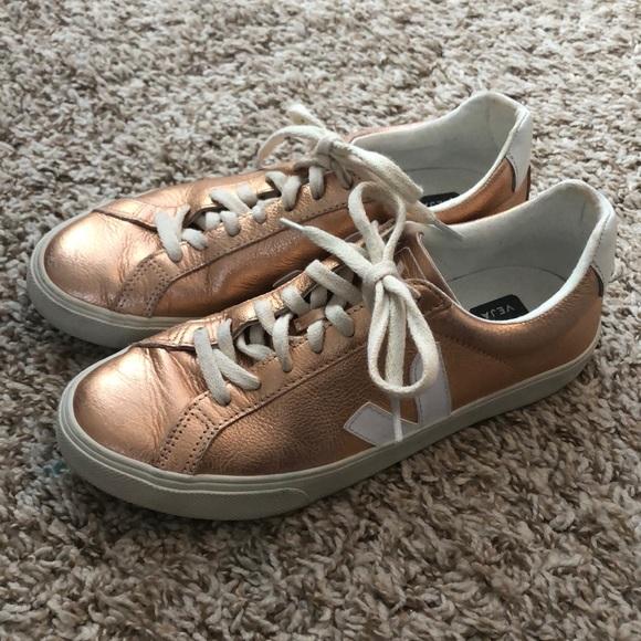 Rose Gold Veja Sneakers | Poshmark